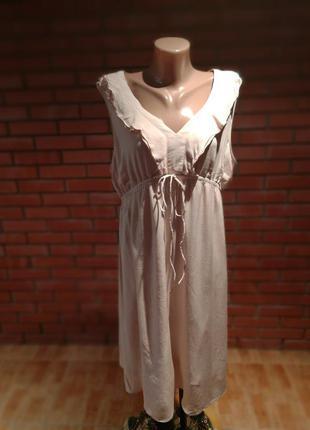 Нежное пудрово-розовое платье для беременной