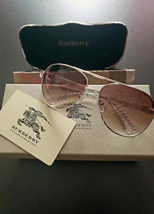 Очки солнцезащитные авиаторы burberry