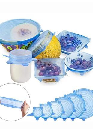 Крышки для посуды силиконовые.