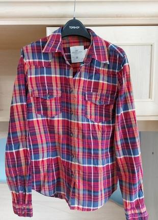 100% хлопок рубашка h&m 38-40 размер