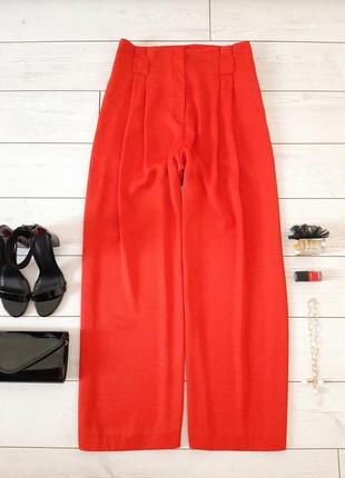 Шикарные красные брюки палаццо _высокая посадка_батал_👠💄