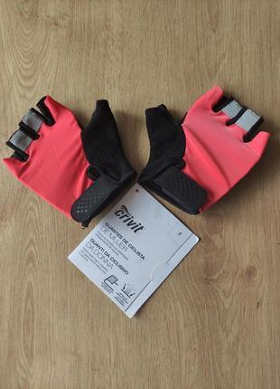 Женские спортивные тренировочные вело перчатки без пальцев crivit