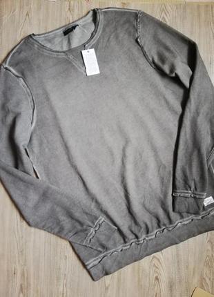 Мужской свитшот свитер кофта джемпер с необработаными краями livergy германия
