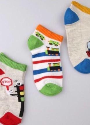 Носки летние укороченные набор для мальчика 31 32 33