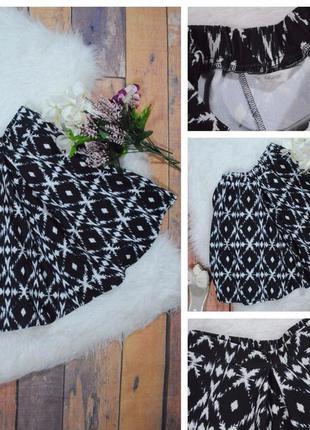 Фактурная черно-белая юбка от george