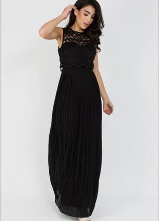 Платье макси в пол вечернее плиссированное asos кружевное макси asos