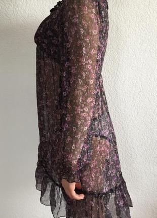Прозора сукня з квіточками) плаття