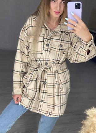Рубашка пальто клетка