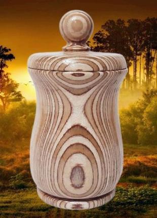 Деревянная фигурная коробка-сахарница, ручная работа