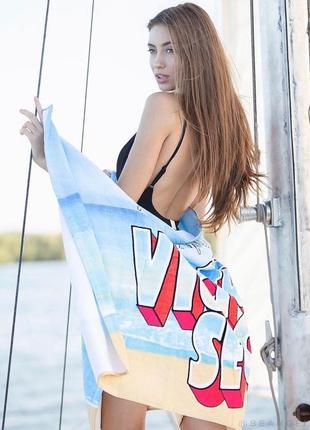 Пляжное полотенце виктория сикрет оригинал