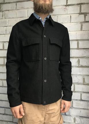 Пиджак чёрный чорний жакет полу пальто куртка мужской