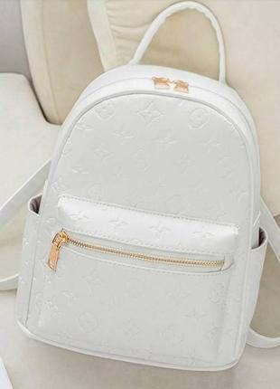Рюкзачок  белый молодежный взрослая