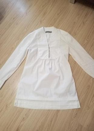 Удлиненная рубашка,блузка,nine west