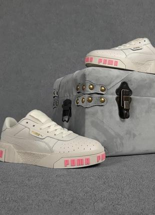 Puma cali бежевые с розовым ▪️ кроссовки пума