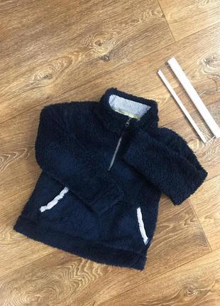 Теплый флисовый  свитер