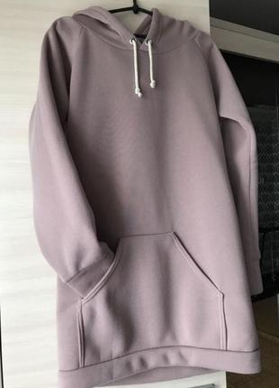 Об'ємне сукня - худі на флісі2 фото