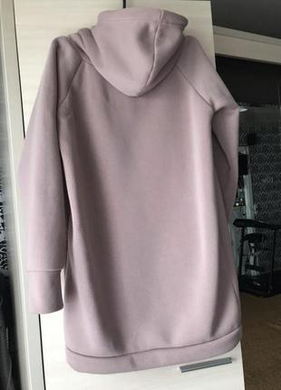 Об'ємне сукня - худі на флісі3 фото