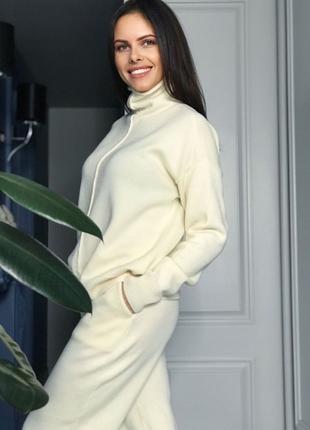 Вязаный женский костюм меринос кашемир