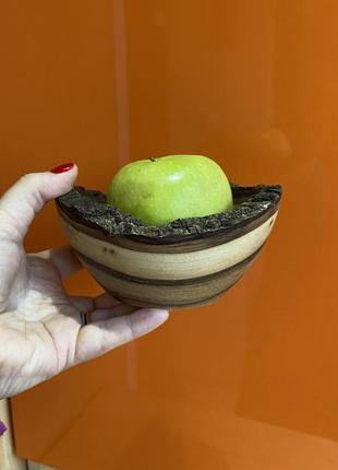 Тарелка из дерева ручная работа дерево пиала