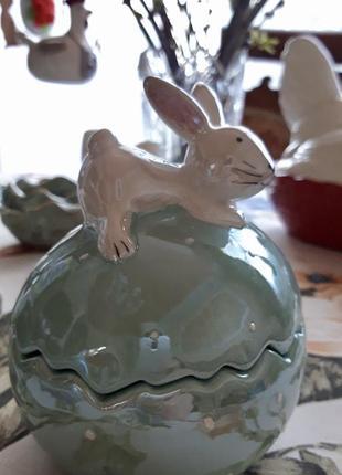 Шкатулка керамическая кролик