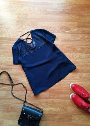 Женская нежная красивая блуза с кружевом gloria jeans - размер 42-46