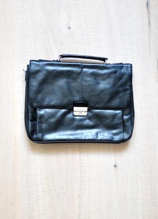 Кожаный портфель, сумка hilfiger toni perotti picard