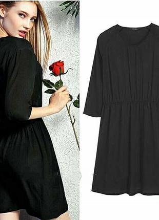 Базовое черное шифоновое платье esmara