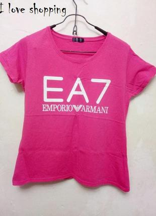 Крутая футболка ea7 emporio armani (армани,оригинал,брендовая,на тренировку)