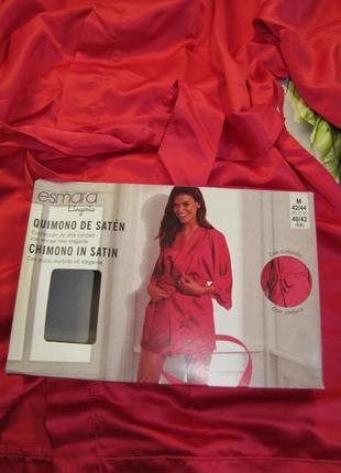 "Сатиновый халат ""кимоно"" esmara размер m red"