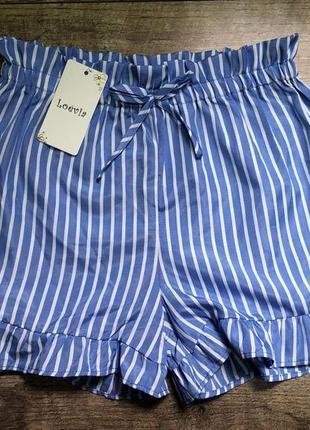 Полосатые шорты с бантом