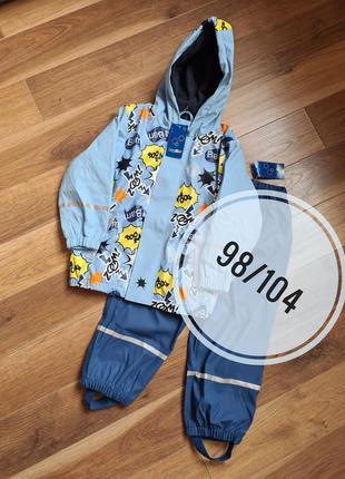 Lupilu комплект грязепруф 98/104 р дождевик куртка и штаны
