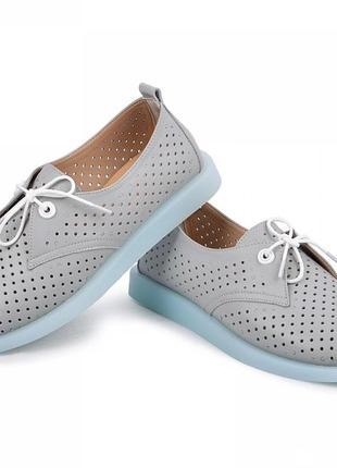 Туфли кожаные перфорированные а 36 по 41 размер