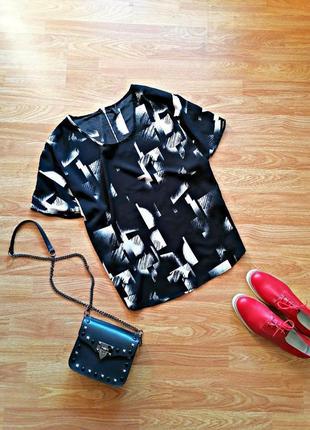 Женская легкая современная блуза оверсайз vero moda - размер 46-48