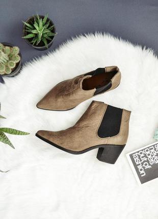 Бежевые ботинки челси h&m