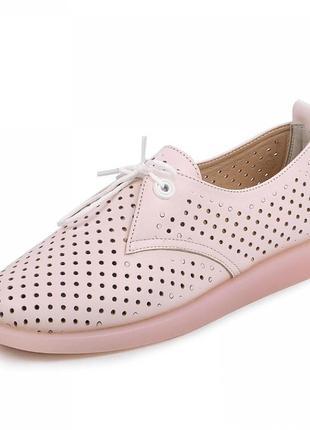Кожаные туфли женские перфорация 36 по 41 размер