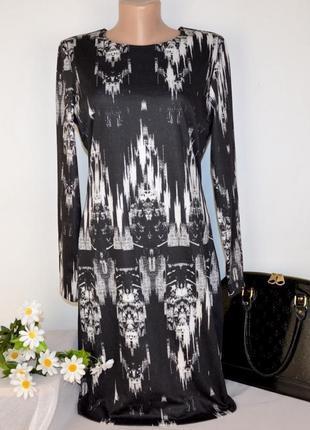 Брендовое черно-белое вечернее нарядное миди платье h&m камбоджа этикетка