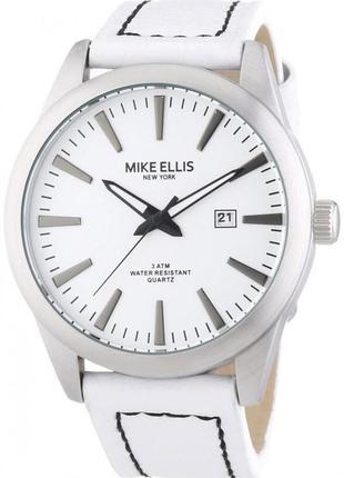 Мужские стальные часы mike ellis new york с кожаным ремешком
