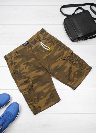 Мужские камуфляжные шорты с карманами милитари