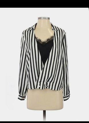 Блуза комбінована/ з топом/обманка сорочка