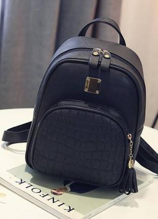 Рюкзак экокожа черный