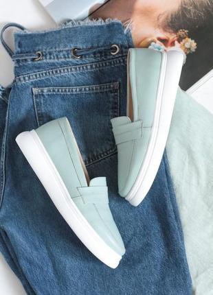 Кожаные туфли лоферы, шкіряні лофери
