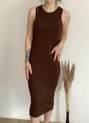 Длинное платье- майка