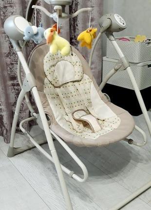 Крісло-гойдалкa carrello nanny crl-0005 beige dot