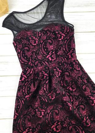 Пышное платье storm с битыми велюровыми узорами