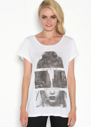Хлопковая футболка с принтом / большая распродажа!