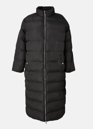 Курточка пуховик овэрсайз длины макси большой размер🖤