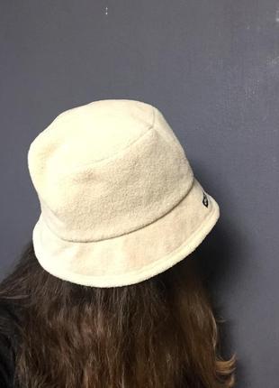 Шапка шляпа панама бежевая осень зима
