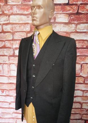 Костюм-тройка шерстяной клеш винтажный 70-е