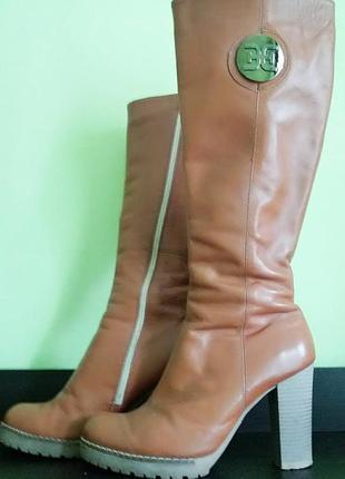 Capriccio чоботи/сапоги (на каблуках) натуральна шкіра/натуральная кожа