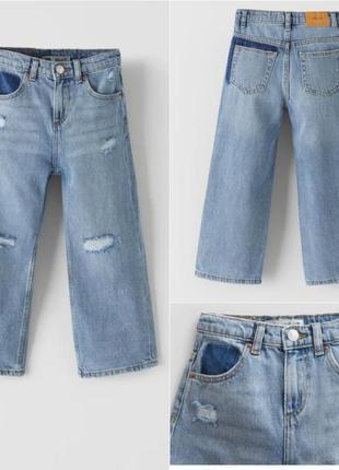 Новые джинсы zara кюлоты зара джинсы wide leg